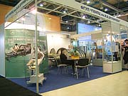 Moscow. Expocenter. Exhibition Zdravoohranenie. Khrunichev Medical  Equipment Plant